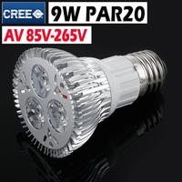 Dimmable 9W LED Spotlight Ceiling Lights Lamp E27 PAR20 Warm White Coo White LED Bulb E27 For Home Indoor Lighting Decoration