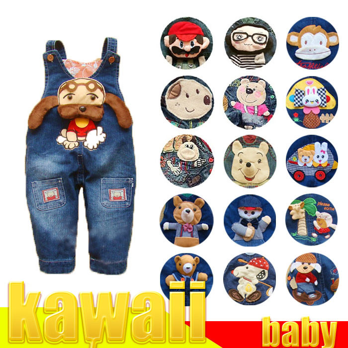 2014 New Spring kids bebe baby jeans pants clothing clothes jumpsuit baby Romper for boys girls freeshipping(China (Mainland))