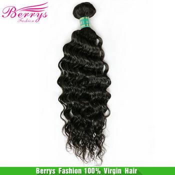 "Human Hair Extensions Brazilian Virgin Deep Curly, 1pcs/lot 100g/pcs (12""-28"") Natural Black Color Free Shipping 6A Quality"