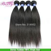 "Indian virgin hair natural Straight 4pcs/lot 100g/pcs (12''-34"" ) Color 1b Berrys  hair products hair extension cheap price hair"