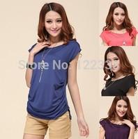 Free shipping, 2013 new summer dresses t shirt 2013 women long t-shirts  H1