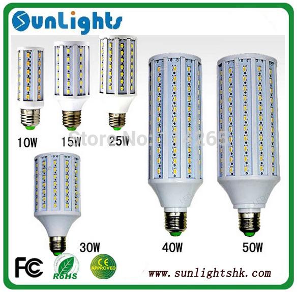LED Corn Lamps 5630 5730 SMD 7w 10w 12w 15w 25w 30w 40w 50w E27 E14 B22 Light 24/36/42/60/84/98/132/165pcs LED bulb(China (Mainland))