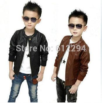 Children's fashion 2014 kids jackets & coats /children outerwear casaco infantil menino boys leather jacket  free shipping