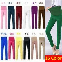 16 colores! Más tamaño xxl cintura elástica casual mujeres embarazadas pantalones de maternidad del vientre pantalones de mezclilla abdominal/pantalones/jeans ropa(China (Mainland))