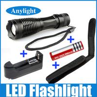 CREE XML-T6 torch 2000 lumens Led flashlight 5 modes lanterna + 1 *18650 battery +EU/US Charger+ Holster Holder WLF11
