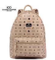 Korean Style Men & Women's Backpacks Rivet  Bags Fashion School Backpack PVC Cute Backpack