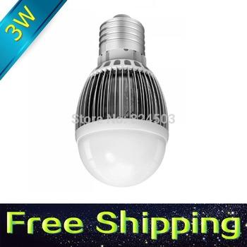 8pcs/lot Quality Assurance E27 E26 MR16 GU10 GU5.3 Led Bulb 3W LED Lamp 12v 220V Cold Warm White Led Spotlight Free Shipping G50