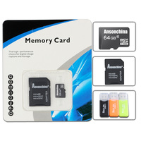 Hot sale! Real capacity Micro SD Card 32gb 64GB Class 10 Memory Cards 16GB 8GB 4GB 2GB With Free Card Reader+SD Card Adapter