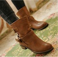 women motorcycle autumn winter martin leather boots botas femininas botas mujer botas femininas