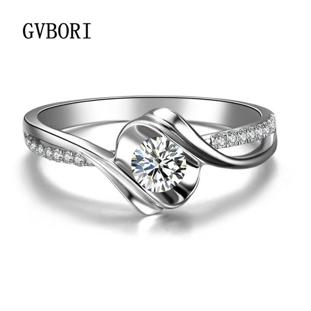 diamant bague de mariage pour les femmes gvbori 18k blanc, or, bague ...