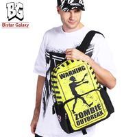 New 2014 Zombies Top Selling School Bag Backpack for Teenager Boys Large Zipper Fancy Printing Men's Backpacks, Retail BBP117