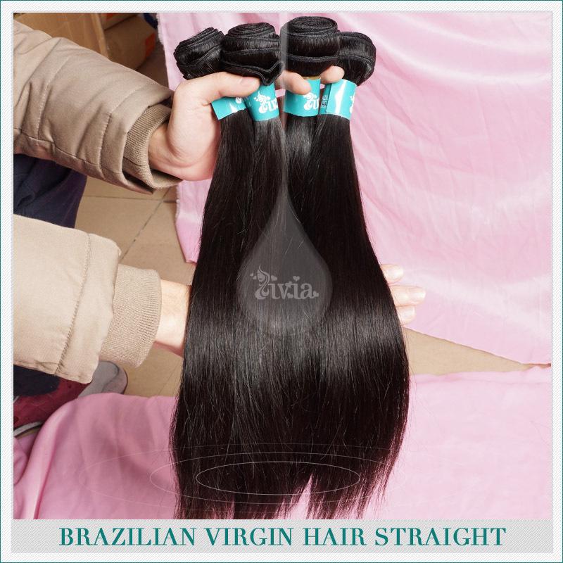 6a brasileña cabello virgen tejer recto paquetes de envío gratis, rosa de productos para el cabello 3 lotes de piezas de armadura del pelo humano natural de color negro