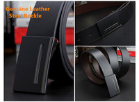 men genuine leather belt smooth buckle belts for men luxury leather waist belt