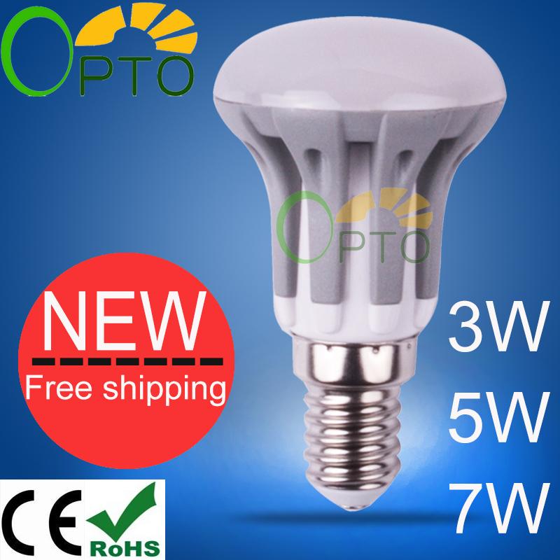 Dimmable New arrival LED Bulb E14 E27 3W 5W 7W led lamp 185V-265V warm white/white/cool white 1pcs/lot R39 R50 R63(China (Mainland))