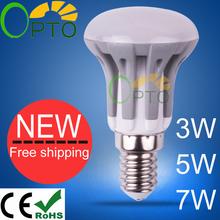iluminación led bombilla e14 e27 leds 3w luz 5w 7w llevó lámpara 185v-265v blanco cálido/blanco/blanco frío 1pcs/lot r39 r50 r63(China (Mainland))