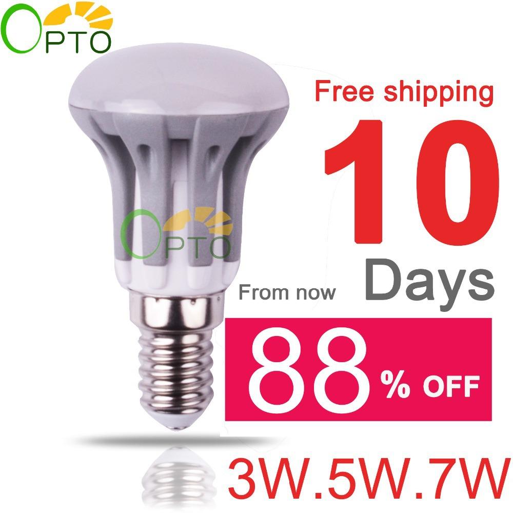 2014 New arrival LED bulb E14 E27 3W 5W 7W Energy Saving lamps light 220V-240V 1pcs/lot Warm White/White/Cool White R39 R50 R63(Chi