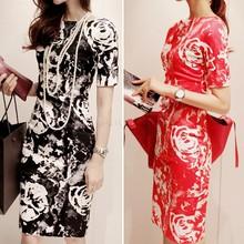 wholesale black knee length dress