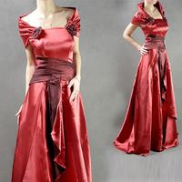 Freeshipping Hot Sale Elegant Chiffon Formal Evening Dress (Red, Purple, Wine, Golden)