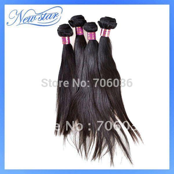 "New Star Virgin Peruvian straight &100% remy human Hair weft 3pcs/lot DHL free shipping 14""-24""natural color quality good price(China (Mainland))"