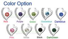 float floating HotsellingWholesale 18K Platinum Plated shine Zircon Love Heart Pendant chain Necklace crystal Jewelry 4008