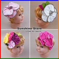 Sunshine store #2B1980  10 pcs/lot (43 styles) 2013 newwholesale TOP BABY headband hairband flower cotton hair accessories CPAM