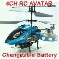 Free Shipping  New Version Avatar F103 4CH IR Remote Control Metal Gyro RTF RC Helicopter LED Gyro Toy original package FSWB