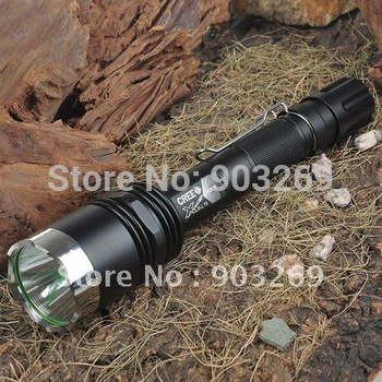 1PC X8 Flashlight 5 MODE 1300 Lumen XM-L T6 LED Flashlight Power By 2*18650 Battery Waterproof Aluminum Camping High Power Torch