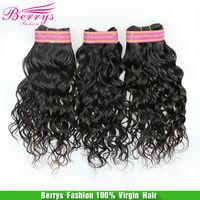 "Berrys Fashion Peruvian virgin Natural Wave 3pcs/lot 100g/pcs (12""-28"") Berrys hair products, natural color  hair weaves"