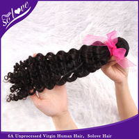 Brazilian deep wave curly  virgin hair 1pcs lot queen hair products grade 5a weave hair unprocessed