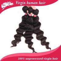 Free shipping  brazilian bouncy wave virgin hair, mixed length 3pcs lot bouncy wave weave hair