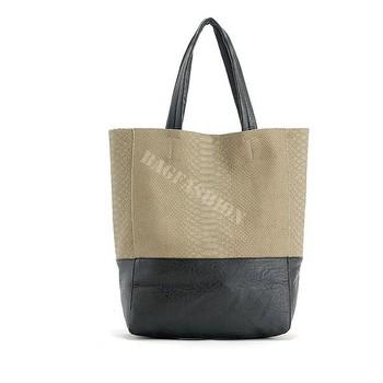 korean handbag women pu design purse and handbags women Shoulder Bag Snake Skin Ladies fashion Bags 7039