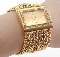 New women Lady Ladies Bracelet watch bangle watch wristwatch fashion quartz watches rhinestone diamond watch Free shipping