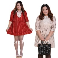 dresses new 2014 spring fashion active dress knee-length XXL plus size women clothing casaul dress Vestidos