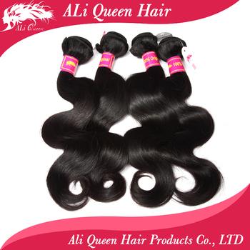 brazilian virgin body wave hair extenstions,mixed length 4pcs lot brazilian body wave