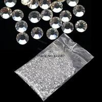 (20,000pcs/Lot) 1.5mm Glitter Clear Hot Fix Nail Art Rhinestone For Nail Decoration Wholesale 5915