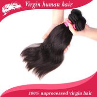 Free shipping Ali Queen hair products brazilian virgin hair mixed length 4pcs lot straight human hair extenstion