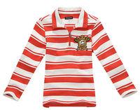 Freeshipping Spring Autumn  red yellow Children boy Kids baby long sleeve striped cotton polo t shirt children top PDQZ01P11