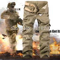Hot Sale Men ARMY tactical Pants Cargo men jogging pants Fashion drop crotch pants Work Trousers Men Pants for Christmas Gift