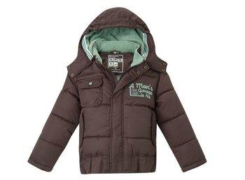 O Freeshipping Winter Chocolate Children Boy girl Kids polar fleece detachable hoody hooded down jacket Outerwear top WMGFD113