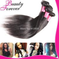 3pcs Lot Mixed Unprocessed 6A Brazilian Virgin Hair Straight, Cheap Virgin Straight Human Hair Weaves Beauty Forever BFST005