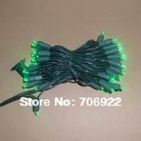 Holiday Sale Free Shipping 10 PCS UL 50L 5M Green 5mm Christmas LED Lights String