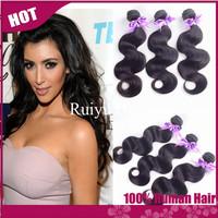 "Grade 5A rosa hair products brazilian virgin hair body wave 3pc/4pcs lot,brazilian hair 8""-30"" human hair extension can be dyed"