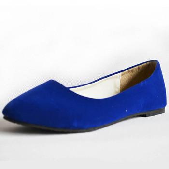 Free shipping 2014 spring autumn fake suede flat heel women's flats casual ballet  shoes ladies ballerinas sapatos feminino