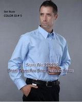 Free shipping , New  Men's Long Sleeve Shirts slim fit,oxford cotton shirts for men Striped shirt,30color size:M L XL XXL XXXL