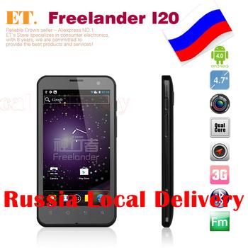 RU Local Shipping Freelander I20 Quad Core wcdma phone 4.7 inch IPS 8G ROM Exnoys 4412 1.4GHZ 13.0MP cameras GPS WIFI Bluetooth