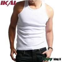 free shipping Men's  t shirt sleeveless  Underwear Cotton  Men Summer Slim  t shirt