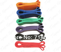 6 Pcs/Set Fitness Resistance Bands Exercise Tubes Latex Body Training Bands With 6 Different Levels