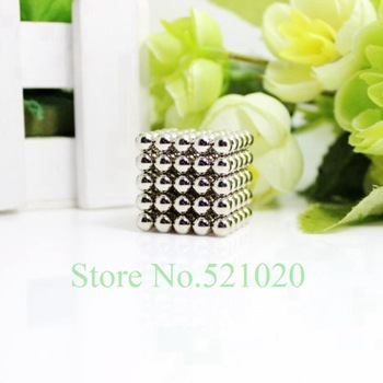 Free shipping factory outlets neocube / 125 pcs 5mm magnet balls cybercube magcube buckyballs at metal tin box nickel color