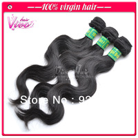 Queen hair products, brazilian virgin remy hair weft free shipping, mixed length body wave 3pcs lot 100% human hair extension