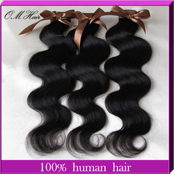 Fashion Rainbow:Queen human hair weaving Peruvian 100% hair extension Body Wave 4pcs/lot best price Cheap weft mix size(China (Mainland))